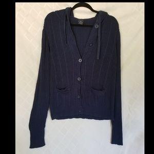 Faded Glory Hooded Sweater Cardigan XL 16/18